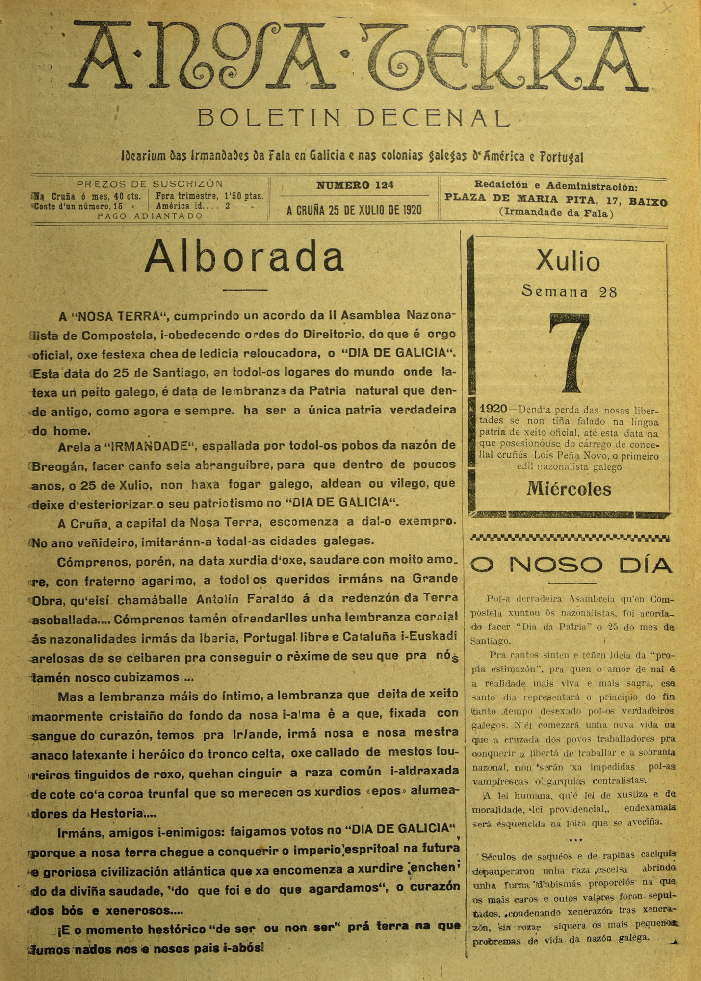 Alborada25Xullo1920-ANT
