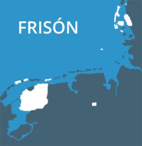 Mapa do idioma frisón