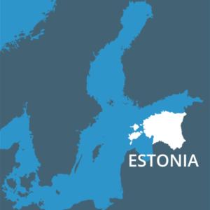 Estonia nunha vista do mar Báltico