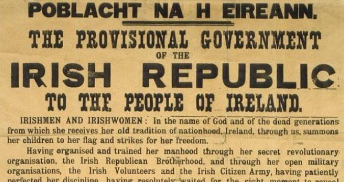 Chamamento do governo provisional da República de Irlanda creado no Levantamento de Pascua en 1916